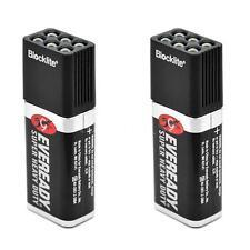 2pcs 9 Volt LED Torch Flashlight 6 Light Bulbs Emergency Battery Camping 0X1R