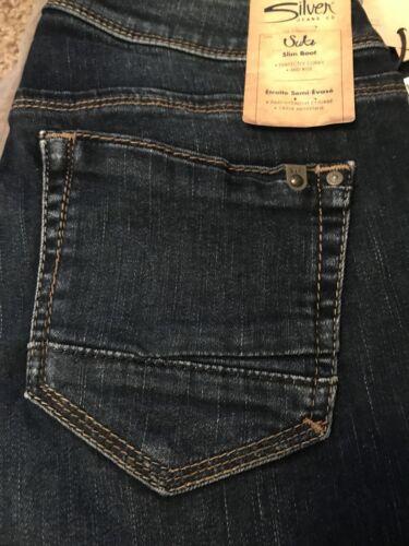 Mid X Junior Cut Slim Boot Ladies Lycra 33 New 28 Ladies Sølv Suki Jeans Rise Kvinders tAqfzR