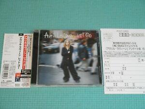 AVRIL LAVIGNE CD Let Go w/Bonus Track 2002 Japan BVCA-27013 OBI