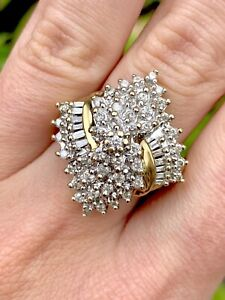 Estate-10k-Gold-Diamond-Cluster-Estatement-Ring-1-Ctw