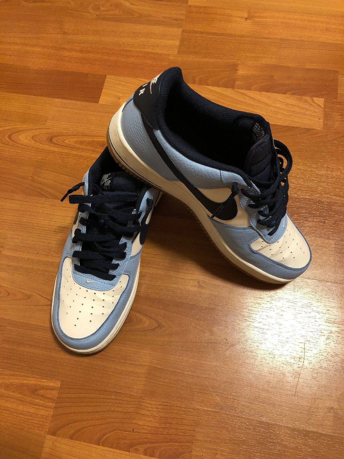 EUC Nike Mens bluee White Gum Air Force 1 Low Low Low 12 ac6f86