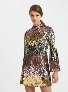 RRP-89-MISS-SELFRIDGE-Ombre-Sequin-Mini-Dress
