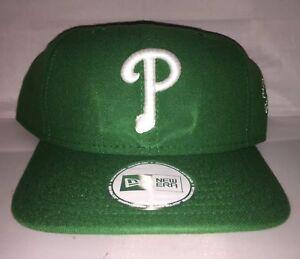 Vtg-Philadelphia-Phillies-Snapback-hat-New-Era-St-Patricks-Day-MLB-og-2007-Rare