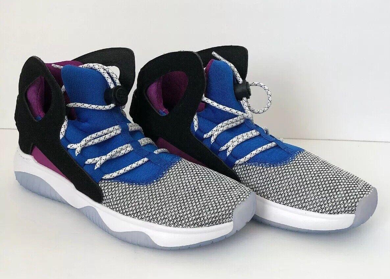 Nike Air Flight Huarache Ultra Size 8.5 Black White bluee (880856-100)