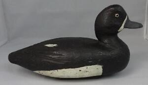 Antique-Wooden-Duck-Decoy-Unsigned-Very-Good-Condition