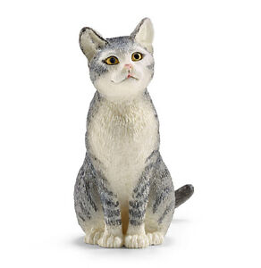Schleich-13771-Cat-Sitting-Model-Toy-Animal-Model-Figurine-NIP