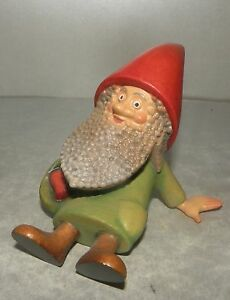 NEW Dwarf With Heart-Throb , Hand carved in Wood in Italy