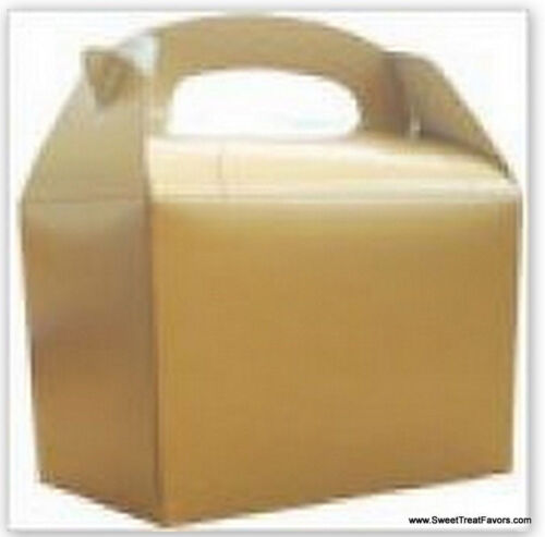 GOLD Party Supplies BOXES Birthday Decoration GABLE Loots x12 Bag Goody Bright