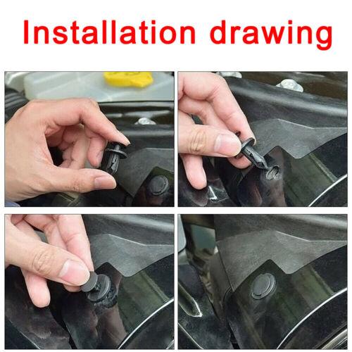 190x Auto Fastener PE Fastener Rivet Car Push Pin Rivet Trim Clips Kit Brand New