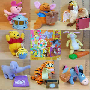 McDonalds-Happy-Meal-Toy-2005-Winnie-The-Pooh-Character-Soft-Toys-Various