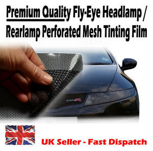 30cm-x-106cm-Headlight-Tinting-Perforated-Mesh-Film-Like-Fly-Eye-MOT-Legal-Tint
