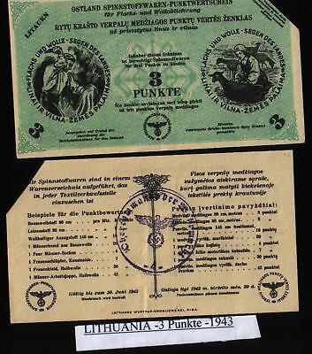 3 Punkt 1943//44 WWII Germany Ostland Lithuania