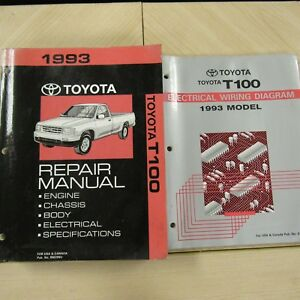 Details about 1993 Toyota T100 Repair Manuals 93 Truck Shop Wiring on