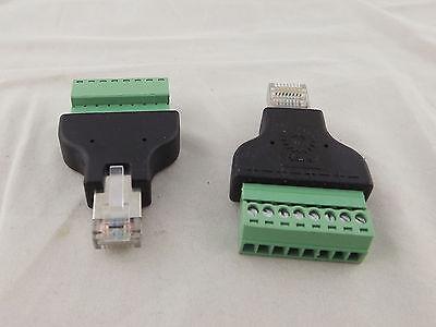 Ethernet RJ45 Male To AV 8 Pin Terminal Screw Adapter Converter Block CCTV Kit