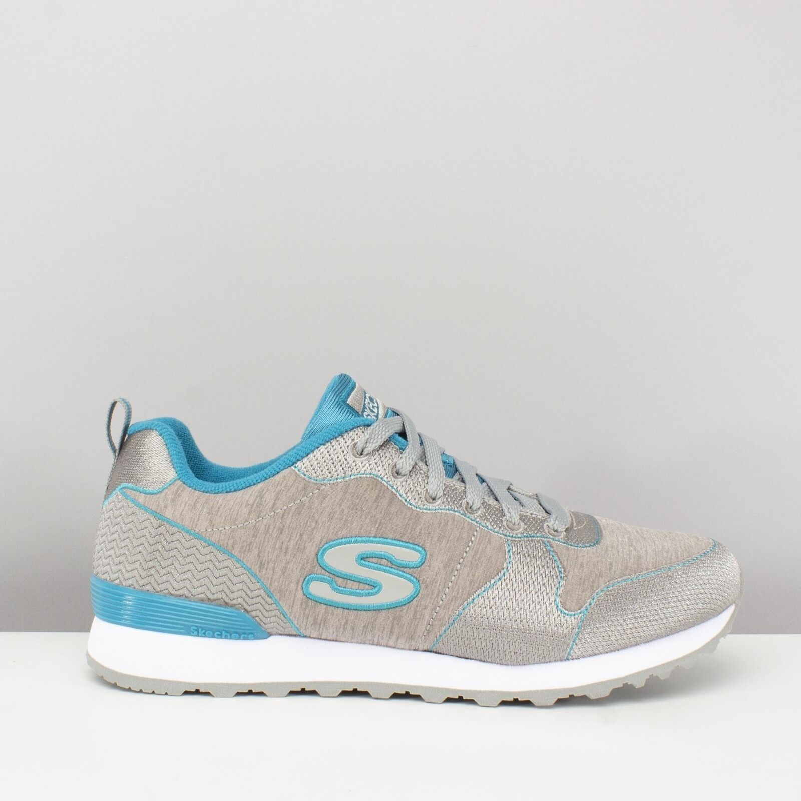 Skechers OG 85-QUICK STITCH Ladies Womens Womens Womens Retro Sport Fitness Trainers Grey bluee b8ed6f
