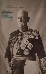 1916-The-Late-Field-Marshall-Lord-Roberts-REAL-PHOTO-POSTCARD-Stuart-of-Richmond