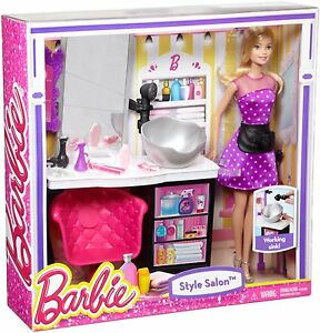 BARBIE MALIBU AVE STYLE SALON W/ DOLL PLAYSET WORKING SINK CMM55 *NEW