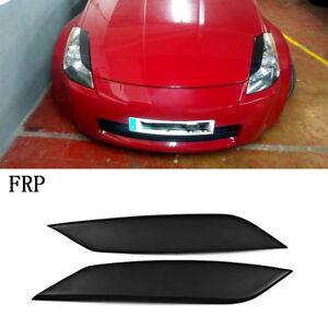 2xFRP-Scheinwerferblenden-Augenlid-Boeser-Lids-fuer-Nissan-350Z-Z33-Fairlady-03-08