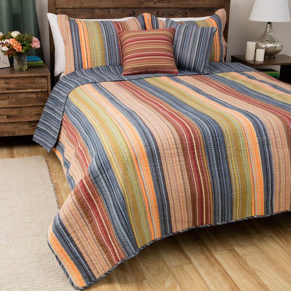 BEAUTIFUL COZY braun Grün Orange rot CABIN Blau WESTERN SOUTHWEST QUILT SET