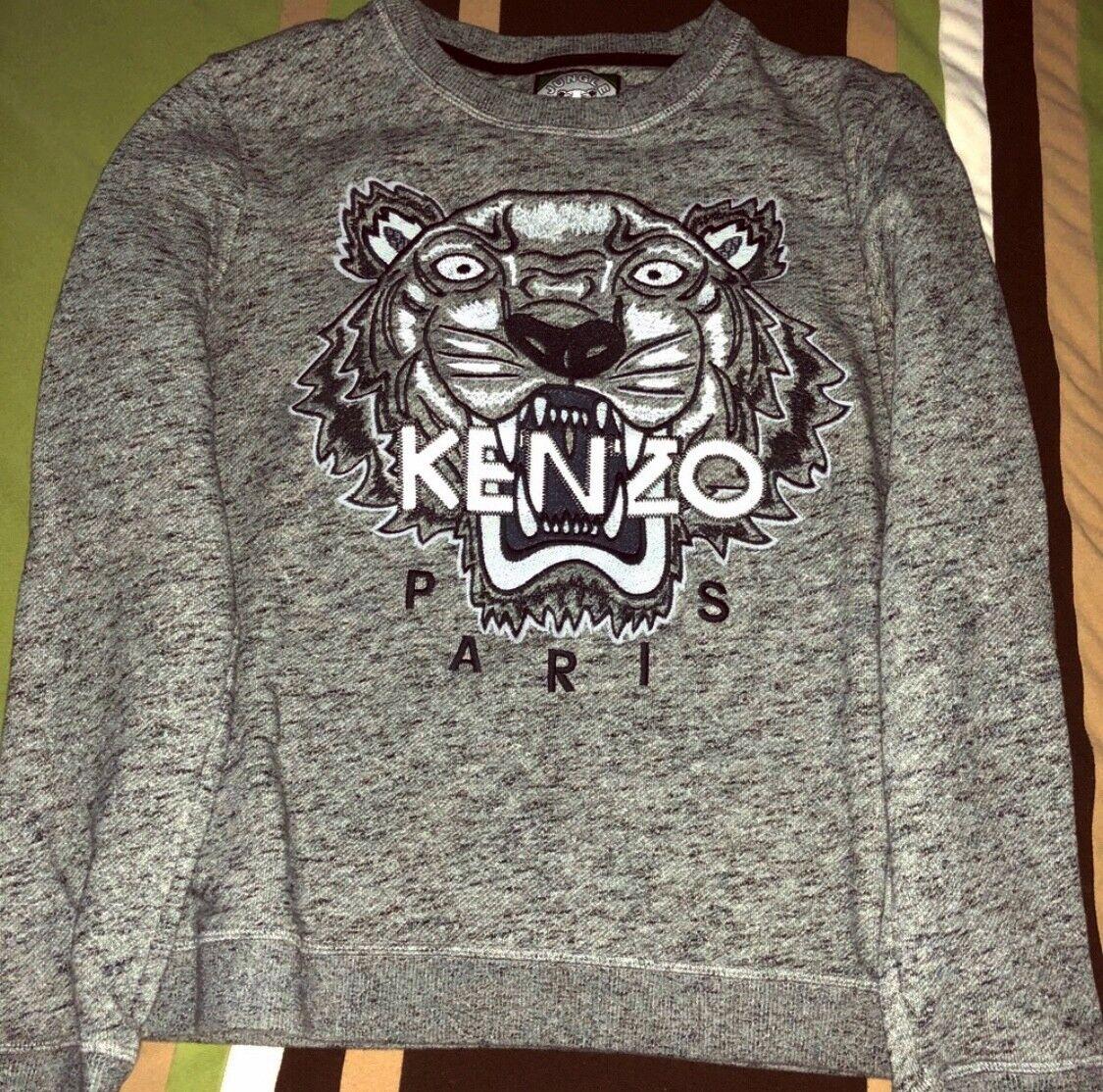 KENZO  Tiger Icon Sweatshirt grau Größe L  395 Retail