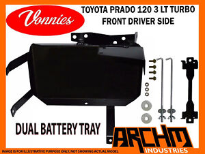 VONNIES-TOYOTA-PRADO-120-TURBO-DRIVER-FRONT-DUAL-BATTERY-TRAY-SYSTEM-2003-2009