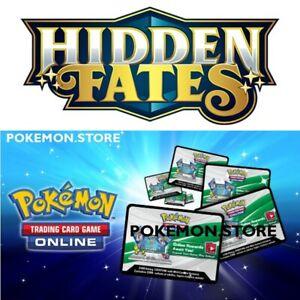 50-Hidden-Fates-Codes-Pokemon-TCG-Online-Booster-schickte-schnell-in-Hand