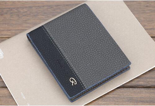 Men/'s Leather Bifold ID Card Holder Slim Wallet Cash Coin Purse Clutch Pocket US