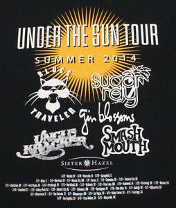 BLUES-TRAVELER-SUGAR-RAY-UNCLE-KRACKER-GIN-BLOSSOMS-2014-Tour-T-Shirt-Large