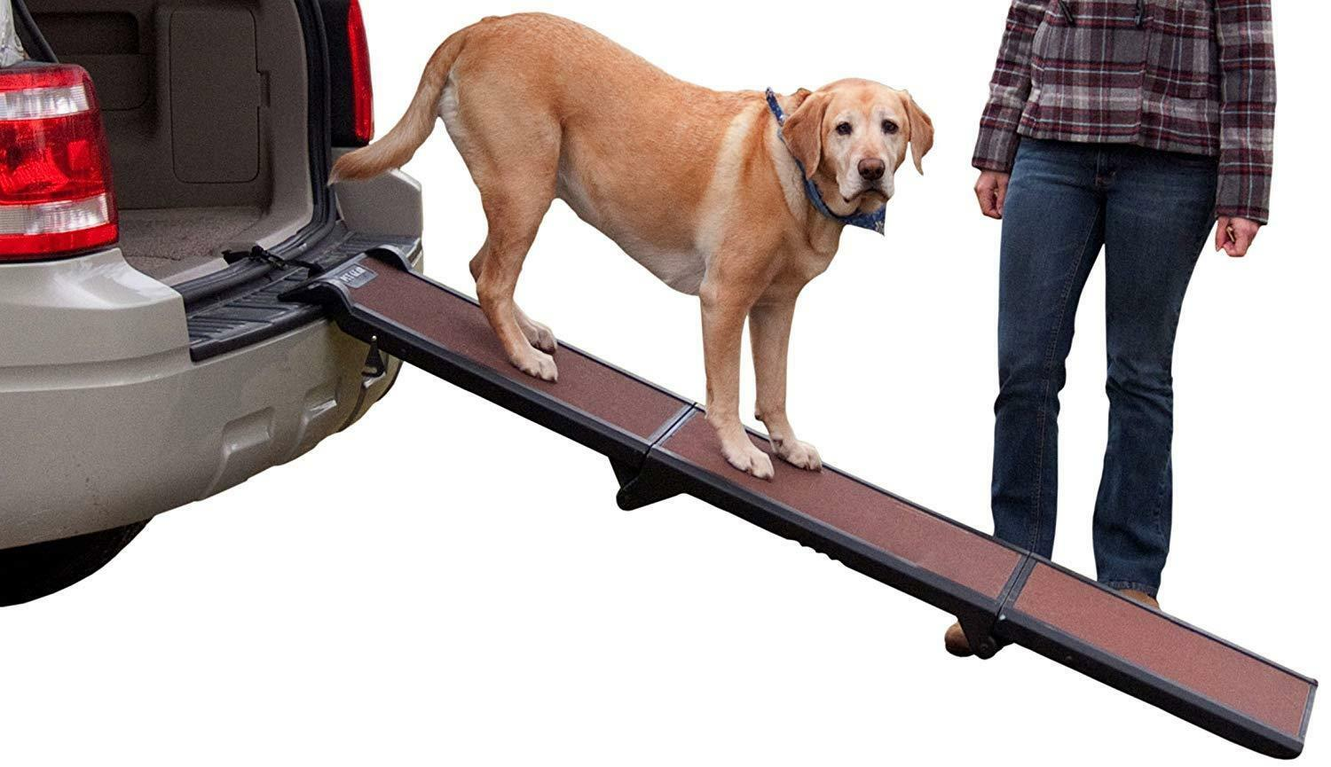 Folding Dog Ramp Car Boot Access Room Pets Non Slip Walkway Portable Handle Ramp