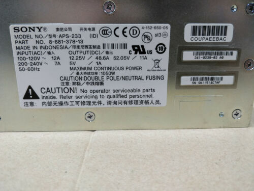 Cisco PWR-3900-POE 341-0239-02 AC Power Supply For Cisco 3900 Series Router TN