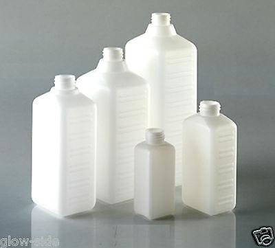 Leerflasche Kunststoff Plastikflasche HDPE Vierkantflasche Labor Rechteckflasche