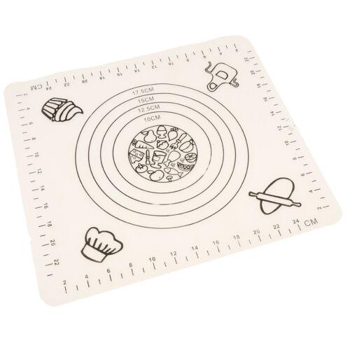 Backmatte Silikonmatte Teigmatte Backunterlage Silikon Kuchen matte