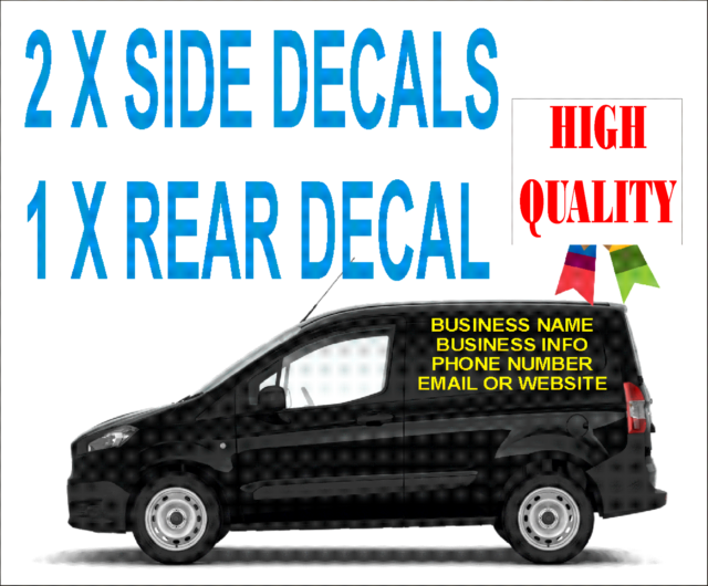 Small custom van vehicle graphics sign stickers writing kit lettering decals