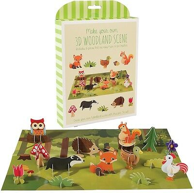 dotcomgiftshop MAKE YOUR OWN 3D WOODLAND SCENE