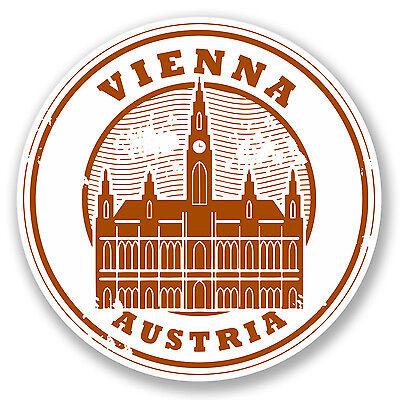 2 x 10cm Vienne Autriche Autocollant Voiture Vélo Portable Decal voyage bagages étiquette # 5940