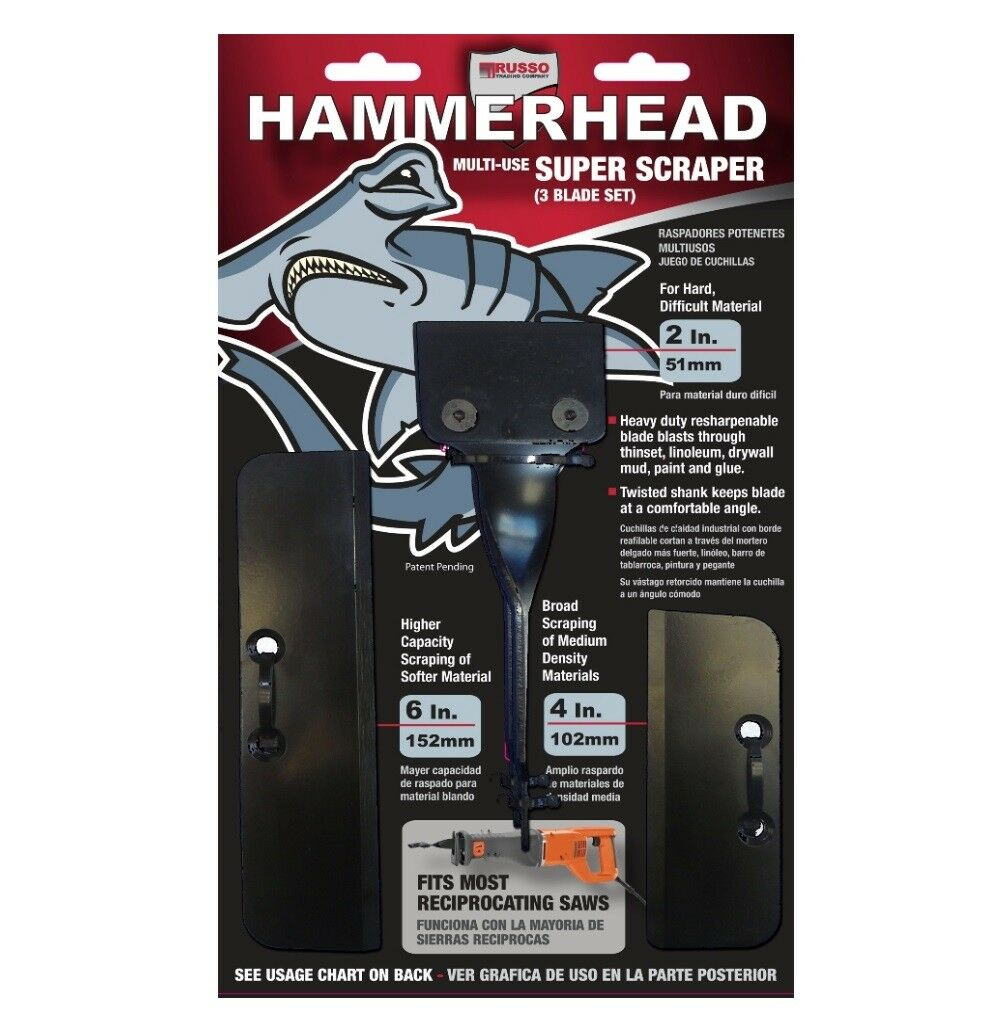 Hammerhead 2  Super Scraper Set for Scraping Thinset, Linoleum, Drywall