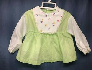 Vintage Long Sleeved Baby Girl Toddler Dress Size 9 12 Months Murphy S Fashions Ebay
