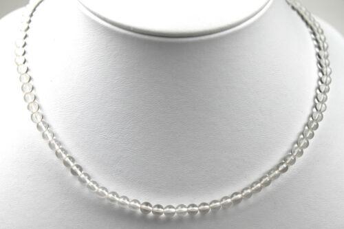 Halskette Kette Edelsteine Natur Bergkristall transparent Quarz Kugel 4mm