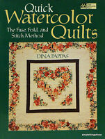 Quick WATERCOLOR QUILTS Quilting Pattern SC BOOK w/13 Designs by Dina Pappas K40
