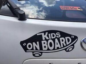 BABY ON BOARD COOL KID CAR WINDOW STICKER DECAL