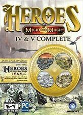 Heroes of Might and Magic IV & V Complete (PC, 2013) NEW