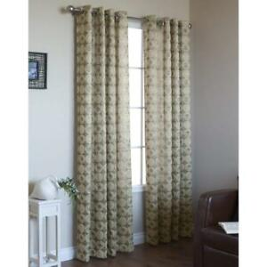 Details About Habitat Commonwealth Mayan Gold Grommet Window Curtain Panels 54 Wide X 63 Long