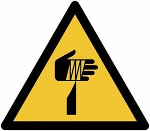 """Cartelli adesivi pericolo ISO 7010   """"Pericolo oggetti appuntiti"""" W022"""