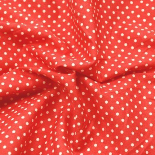 100/% Cotton Poplin Fabric Rose /& Hubble 3mm Spots Polka Dots Dotty