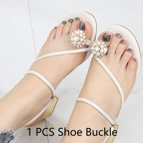 Chic Lady Shoe Buckle Crystal Decorations Clips Shoe Charm Accessories