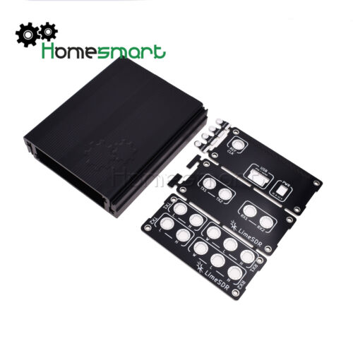 Black Aluminum Enclosure Cover case USB common use for LimeSDR Type-A Type-B AHS
