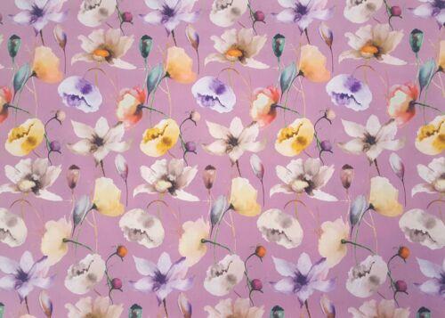 100/% Baumwolle Popeline Poplin Stoff Digitaldruck Blumen Bekleidung Deko