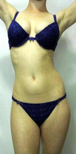 NEW w//tags Medium Rene Rofe Royal Blue w// Bows Bra /& String Bikini Set 34B
