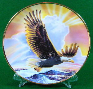 Franklin-Mint-8-034-Plate-Waves-Of-Majesty-Mint-Condition-NB-H5581-Limited-373