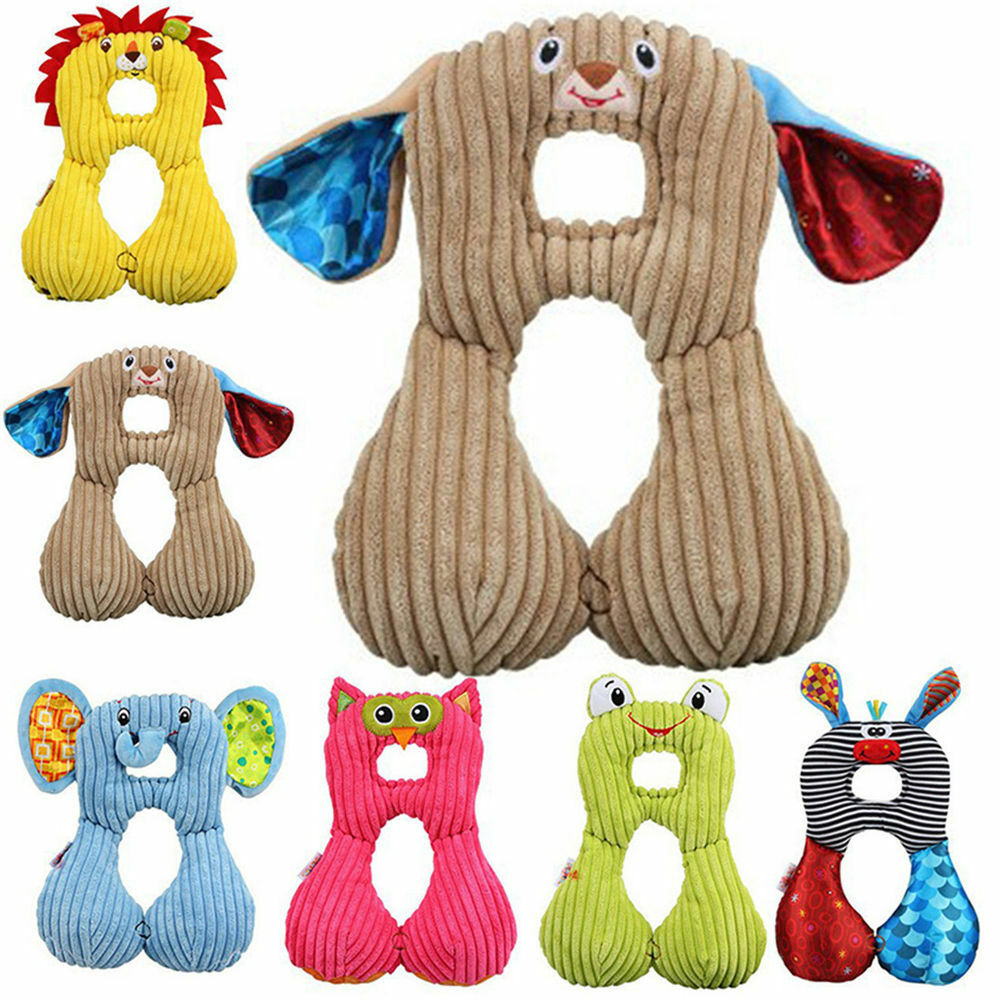 1pc Baby Kids U-shape Animal Head Neck Support Pillow Travel Toddler Seat Pillow